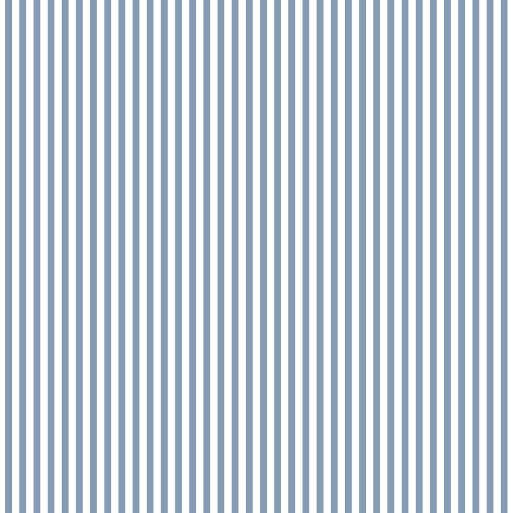 6 mm Blue Stripe Wallpaper