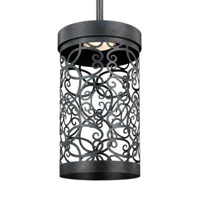 Feiss Outdoor Lighting Feiss outdoor lighting lighting the home depot arramore dark weathered zinc integrated led hanging pendant workwithnaturefo
