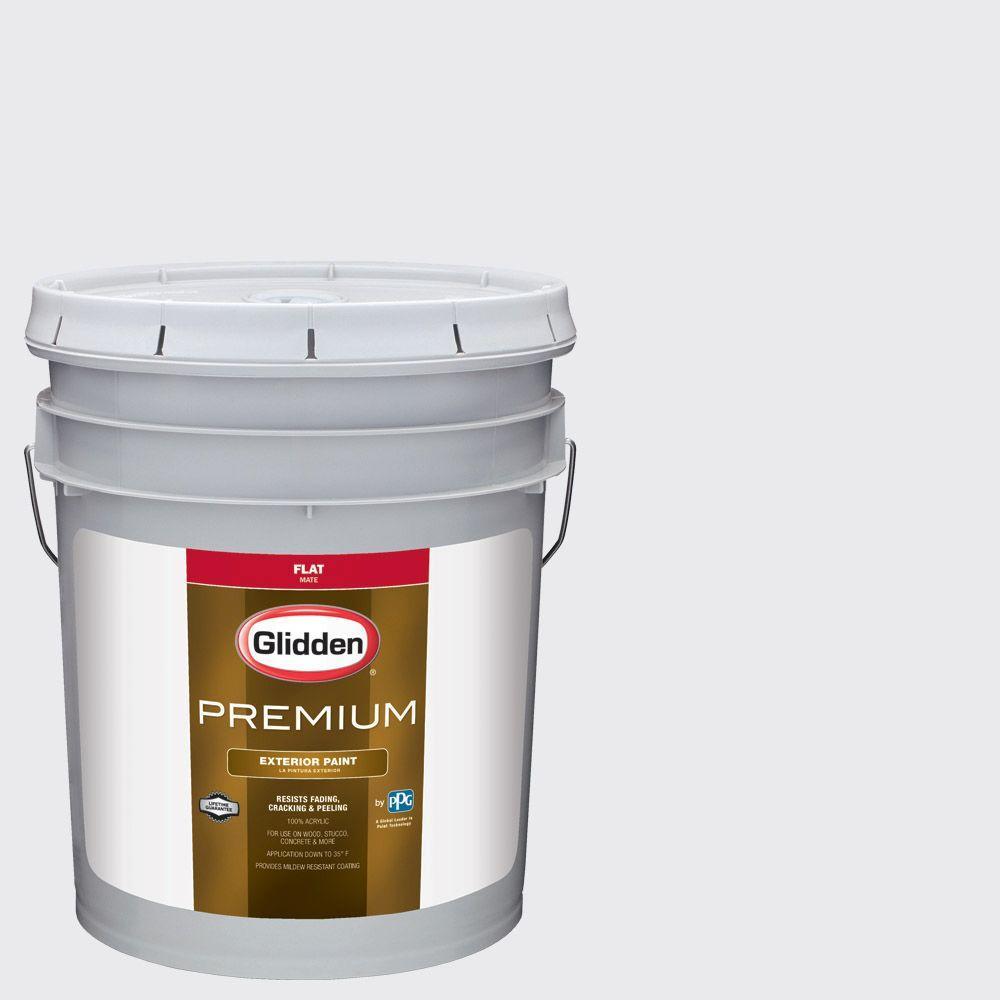 Glidden Premium 5-gal. #HDGCN35 Nova White Flat Latex Exterior Paint ...