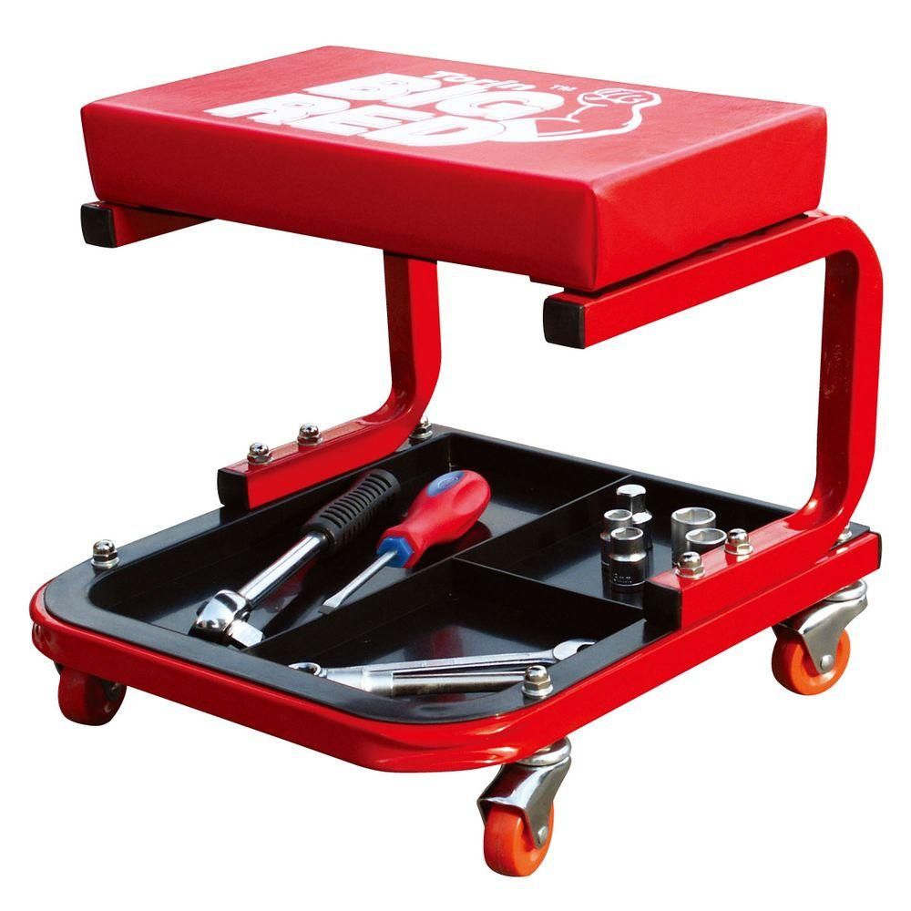 Big Red Creeper Seat with Tool Tray