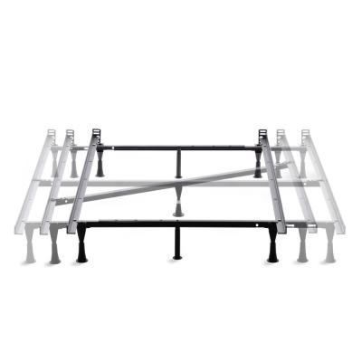 Adjustable Metal Bed Frame with Center Support Queen Glides