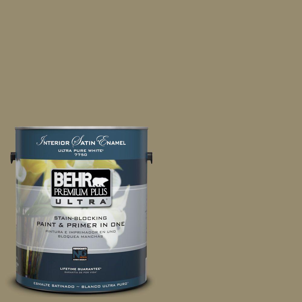 BEHR Premium Plus Ultra 1-Gal. No.UL190-4 Urban Safari Satin Enamel Interior Paint