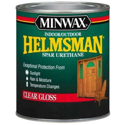 1-qt. Clear Gloss Helmsman Indoor/Outdoor Spar Urethane (4-Pack)