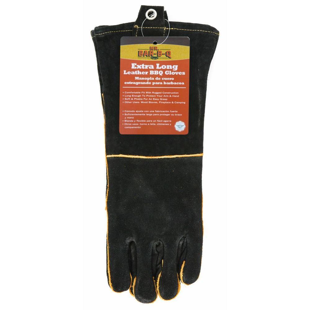 mr bar b q long leather bbq gloves 40113x the home depot rh homedepot com