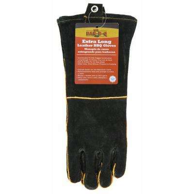 Long Leather BBQ Gloves