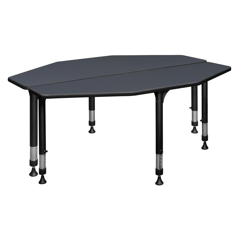 Regency I-Promise Grey 4442 in. 442-Student Desk-IP442SD44424424GY - The Home Depot