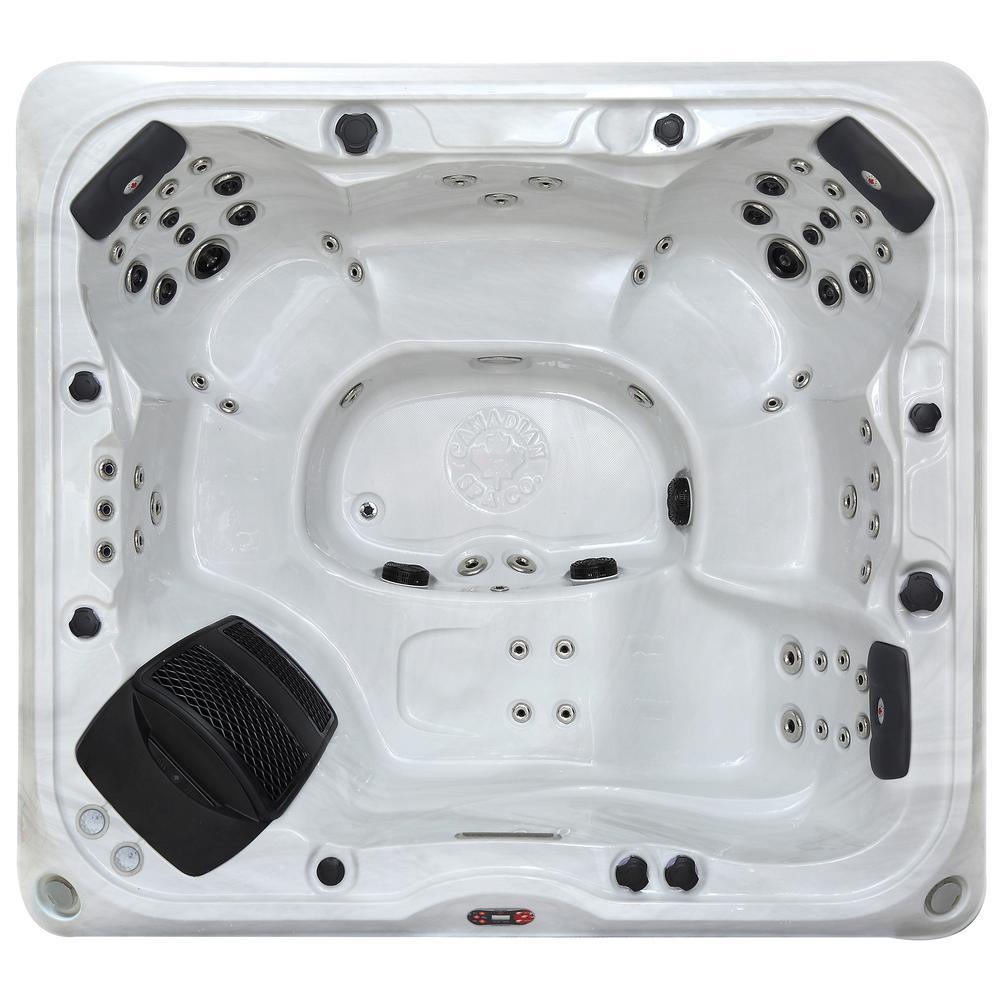 Canadian Spa Company Alberta SE 6-Person 57 Jet Acrylic Hot Tub with ...