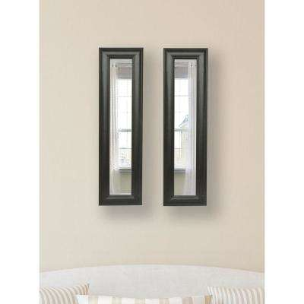9 in. x 35 in. Brazilian Walnut Vanity Mirror (Set of 2-Panels)