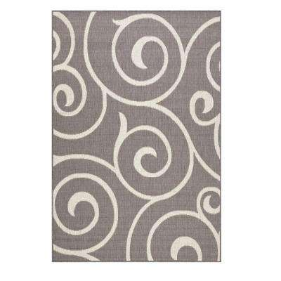 Whirl Grey/Champagne 9 ft. x 13 ft. Area Rug