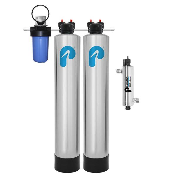 Whole House Filtration, NaturSoft Water Softener Alternative with 7 GPM UV System