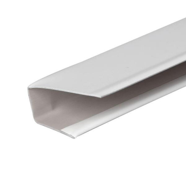 1/2 in. x 12 ft. White Aluminum J-Channel Trim