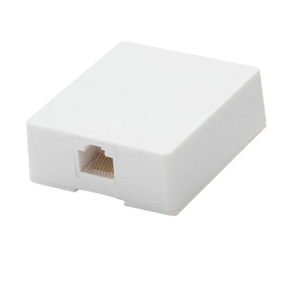 Commercial Electric Surface Mount Ethernet Jack, White-468 8C WH ...