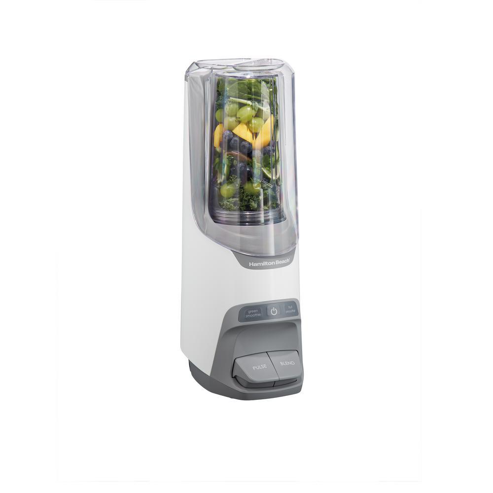 Power Blender Plus 20 oz. 2-Speed Gray Blender with Leak Proof Flip-Top Lid