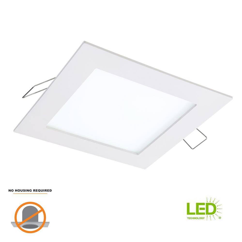 SMD-DM 4.85 in. 3000K Lens White Remodel Square Surface Mount Recessed Integrated LED Trim Kit