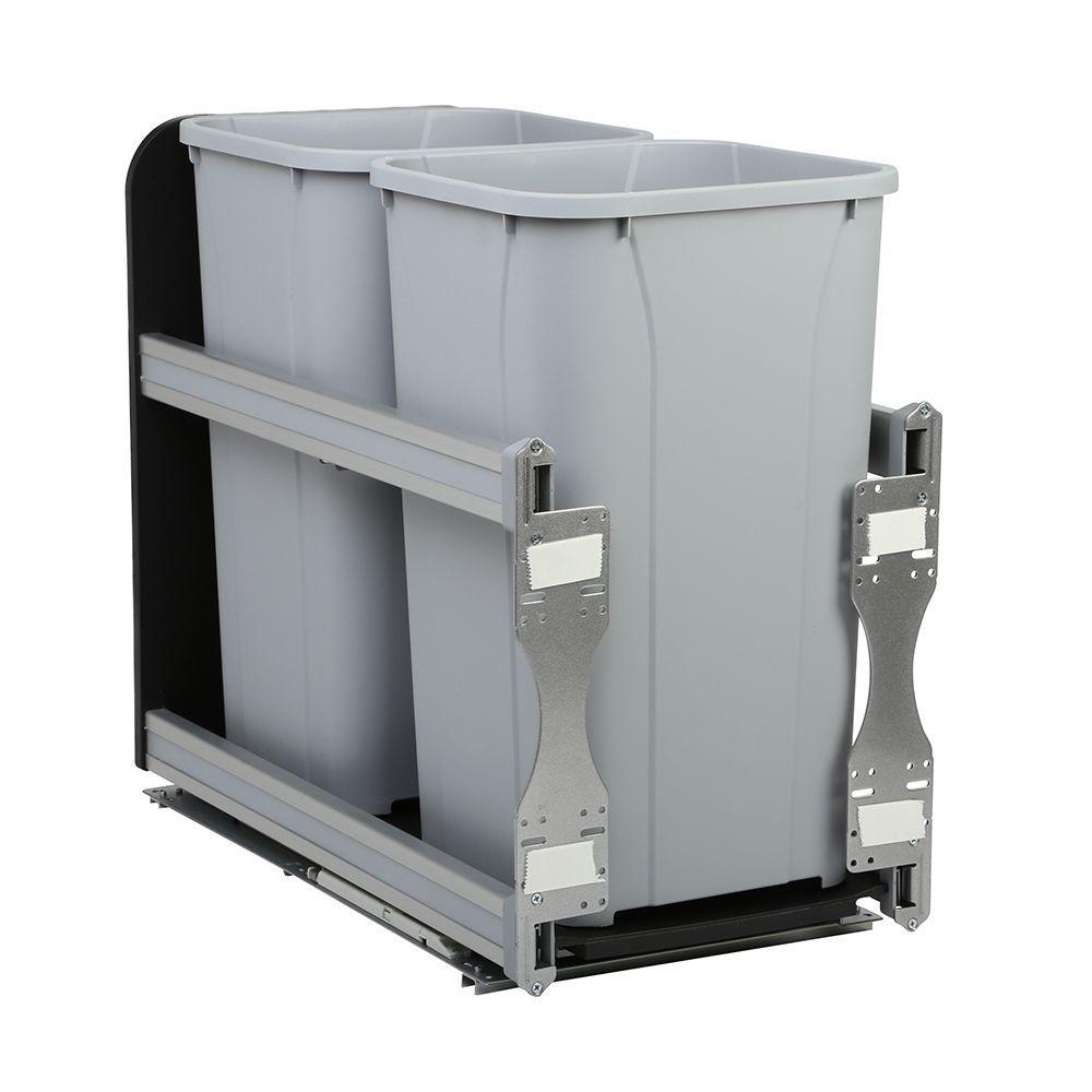 knape u0026 vogt in x in x in 27 qt incabinet softclose double trash the home depot