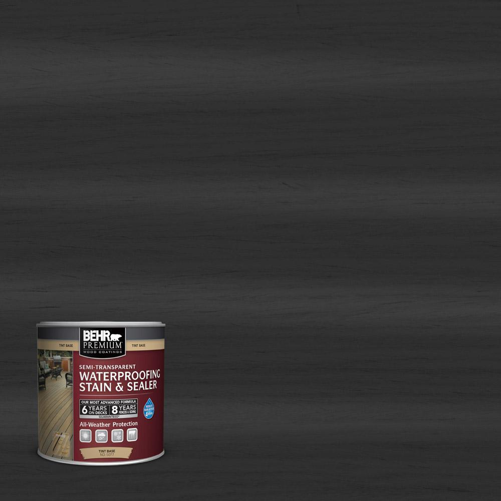 BEHR Premium 8 oz. #ST102 Slate Semi-Transparent Waterproofing Stain and Sealer Sample