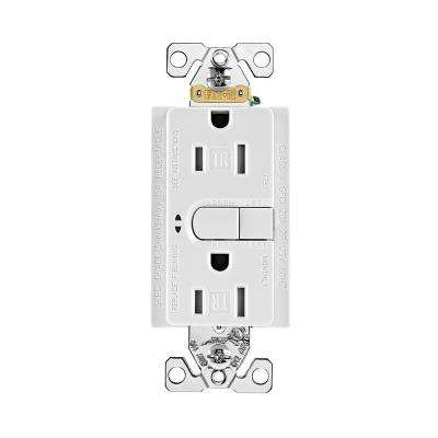 Aspire 15 Amp 125-Volt GFCI TR Duplex Receptacle with Self-Test, White Satin