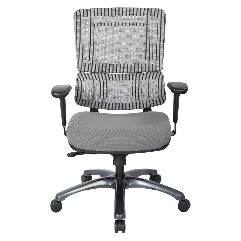 Pro line ii grey mesh vertical back office chair 99667t for Home depot furniture line