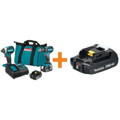 18-Volt LXT Lithium-Ion Brushless Cordless 2-Piece Combo Kit 3.0 Ah Driver-Drill/Impact Driver with Bonus Battery 2.0 AH