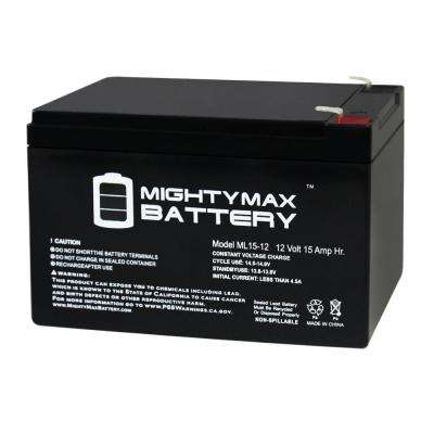 12 -Volt 15 Ah Rechargeable F2 Terminal Sealed Lead Acid (SLA) Battery
