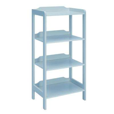 Sadie London Blue Small Office Bookcase