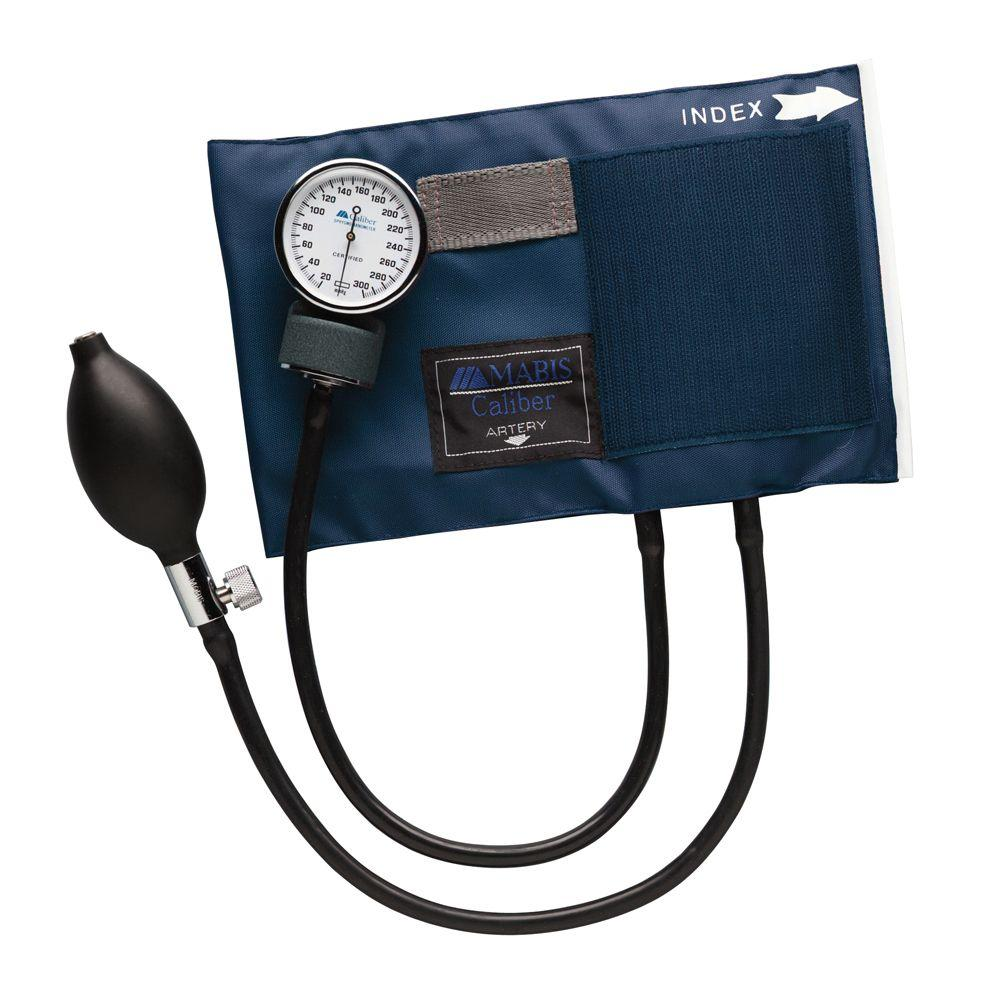 Caliber Aneroid Sphygmomanometers with Blue Nylon Cuff