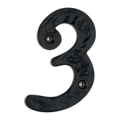 Hammered 4 in. Black House Number 3