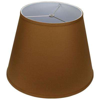 11 in. Top Diameter x 17 in. Bottom Diameter x 13 in. Slant Linen Earth Empire Lamp Shade