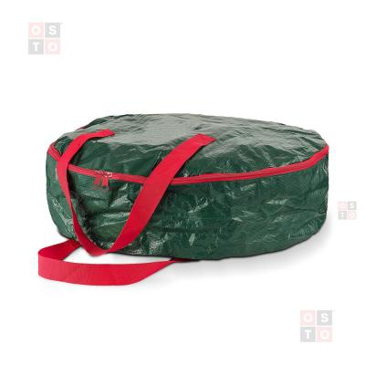 30 inch Wide Artificial Wreaths Holiday Xmas Tear Resistant Storage Container 420D Oxford Fabric Taghua Christmas Wreath Storage Bag Dual Zippered /& Durable Handles