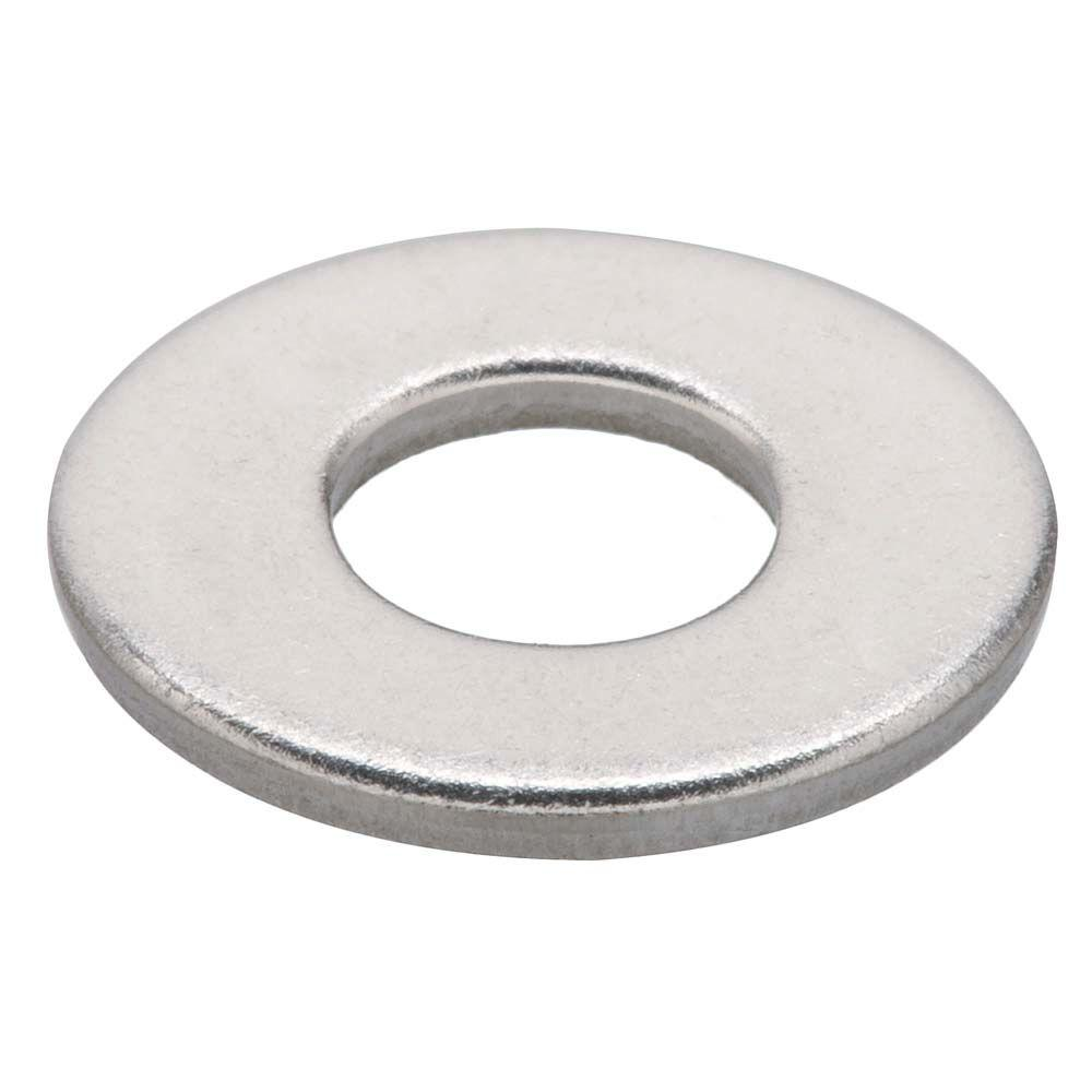 Everbilt #6 Stainless Steel Flat Washers (12 per Pack)