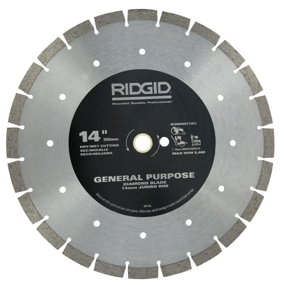 Ridgid 14 in segmented high rim diamond blade hd mp14g the home depot segmented high rim diamond blade keyboard keysfo Image collections