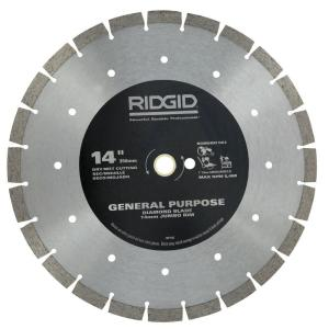 Ridgid 14 inch Segmented High-Rim Diamond Blade by RIDGID