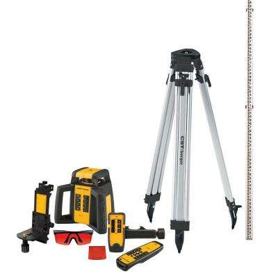 2000 ft. Self-Leveling Horizontal/Vertical Rotating Laser Level Kit (10-piece)