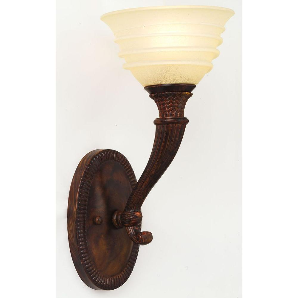 World Imports 1-Light Oxide Bronze Wall Sconce