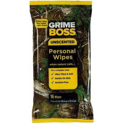16-Count Realtree Unscented Personal Wipes
