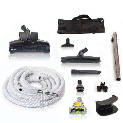 30 ft. Universal Central Vacuum Kit with Turbo Nozzles and Hose