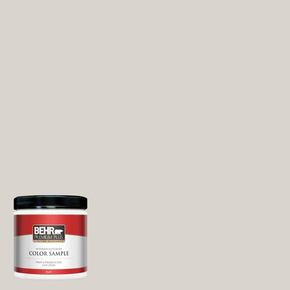 BEHR PREMIUM PLUS 8 oz. Home Decorators Collection #HDC-MD-21 Dove Flat Interior/Exterior Paint & Primer Sample