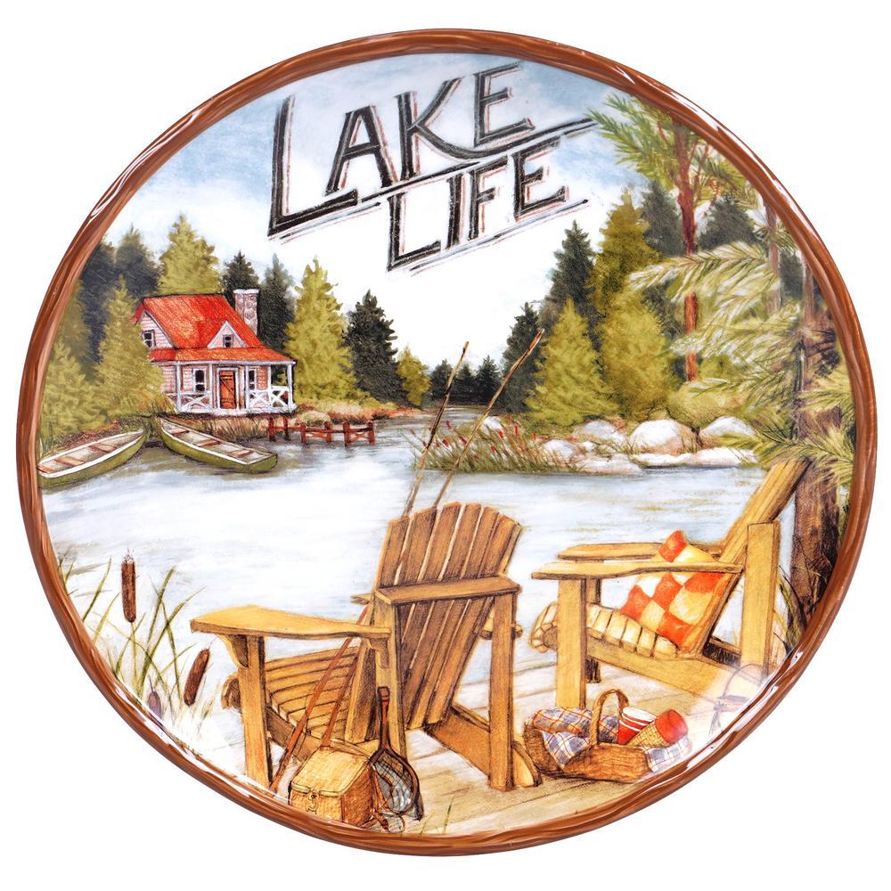 Lake Life Round Platter