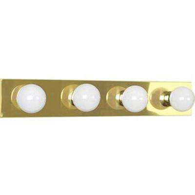 Aldrich 4-Light Polished Brass Bath Vanity Light