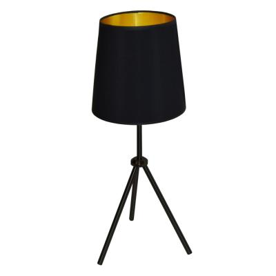 Dainolite Oversized Drum 28 5 In H 1 Light Matte Black Table Lamp With Laminated Fabric Shade Od3t S 697 Mb The Home Depot