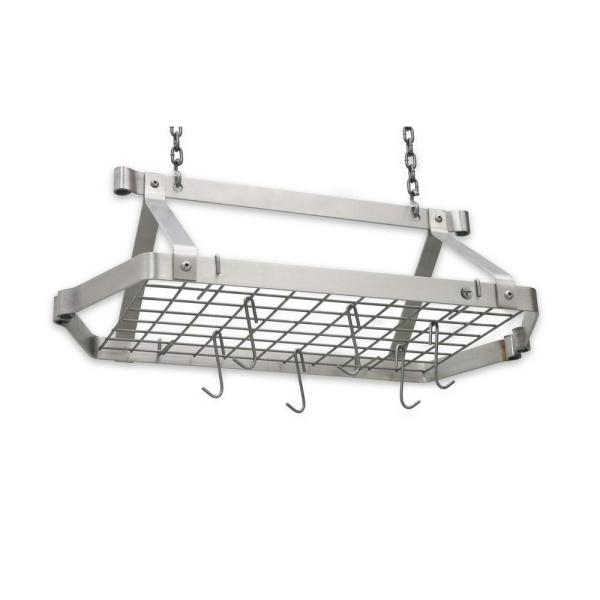 Handcrafted Retro Rectangle with 12-Hooks Stainless Steel