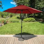 Traditions 9 ft. Table Umbrella in Red
