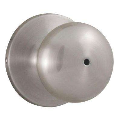 Premiere Essentials Privacy Bed/Bath Satin Nickel Salem Door Knob