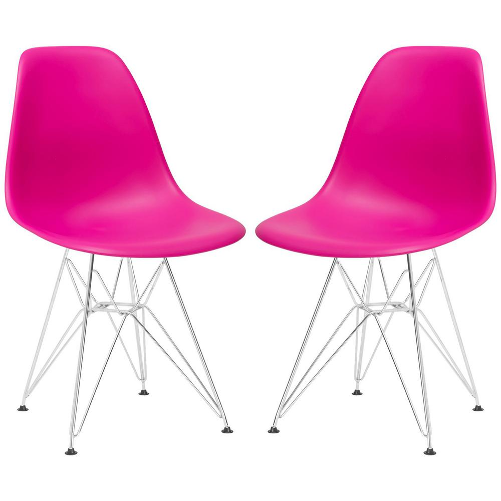 Exceptional Poly And Bark Padget Fuchsia Side Chair (Set Of 2)