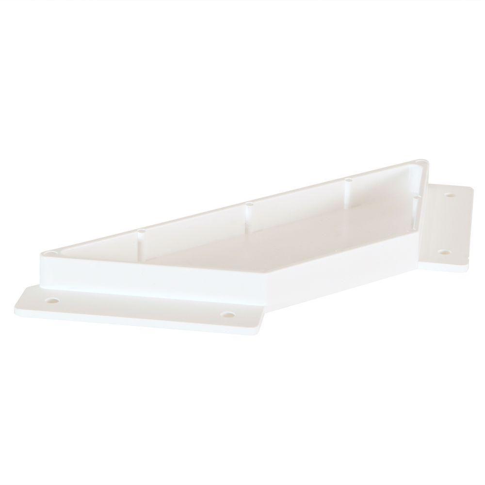 SnapFence White Modular Vinyl Support Bracket (12-Box)