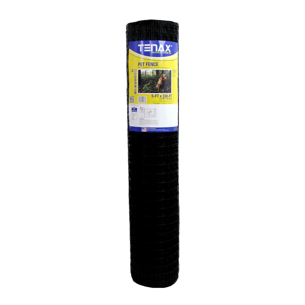 TENAX 5 ft. x 330 ft. C Flex Pet Fence, Black