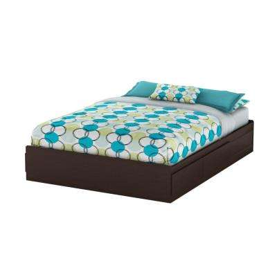 Vito 2-Drawer Queen-Size Storage Bed in Chocolate