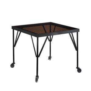 Boulevard Cafe 1-Piece Black Glass Top Dining Table