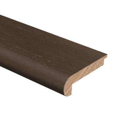 Strand Woven Bamboo Sage 3/8 in. Thick x 2-3/4 in. Wide x 94 in. Length Hardwood Stair Nose Molding Flush