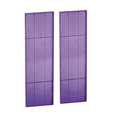 44 in. H x 13.5 in W Pegboard Purple Styrene One Sided Panel (2-Pieces per Box)